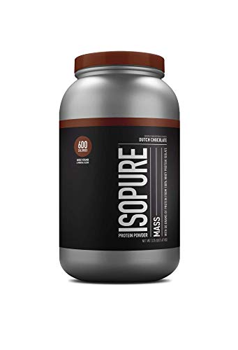 Nature's Best Isopure Mass, Dutch Chocolate, 3.25-Pound Tub