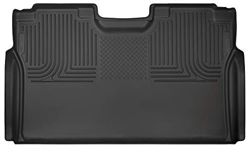 - Husky Liners 19371 Black Weatherbeater 2nd Seat Floor Liner Fits 2015-2019 Ford F-150 SuperCrew, 2017-2019 Ford F-250/F-350 Super Duty Crew Cab - WITHOUT factory storage box