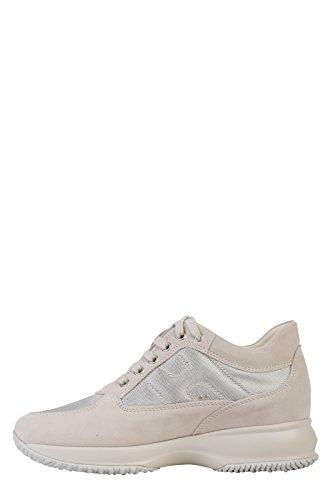 Hogan , Chaussures de ville à lacets pour femme blanc cassé ivoire (ral 1013)
