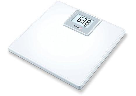 Korona Paula Báscula de baño cláscias ABS, escala hasta 180 kg, intervalos en gramos 100, blanco: Amazon.es: Salud y cuidado personal