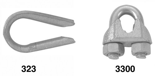 """Campbell T7670649 3/8"""" Galvanized Wire Rope Thimbles"""