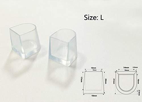 New Pair Clear WEDDING HIGH HEEL SHOE PROTECTOR Stiletto COVER STOPPERS Size L