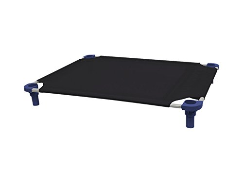 4Legs4Pets C-BK4030NV 40 x 30 in. Unassembled Pet Cot - Black with Navy Legs