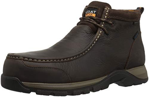 (Ariat Work Men's Edge LTE MOC Composite Toe Western Boot, Dark Brown-3, 12 D US)