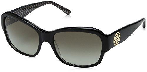 Tory Burch Women's 0TY7107 57mm Black/White Zigzag/Green Gradient - Sunglasses Za