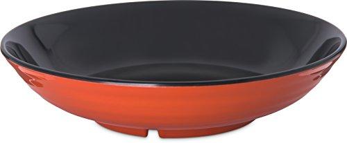 (Carlisle 8910406 Mosaic Melamine Pasta Bowl, 5 lb. Capacity, Black/Terra Cotta)