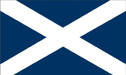 Shoe String King SSK Scotland Outdoor Flag - Large 3' x 5', Weather-Resistant Polyester