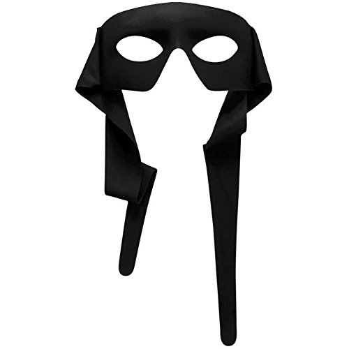 Forum Novelties Venetian Mardi Gras Burglar Halloween Half Eye Mask - Black ()