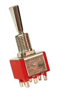 On-On-On 100DP6T1B1M1QEH/-/Toggle Switch 100 Series Panel DPDT 5 A Non Illuminated