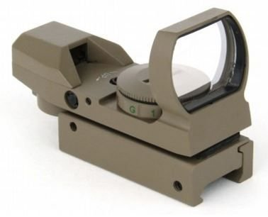TacFire Holographic 4 Multi-Reticles Tactical Dual IlluminatedRed/Green Reflex Sight, Flat Dark (Red Dot Flat)