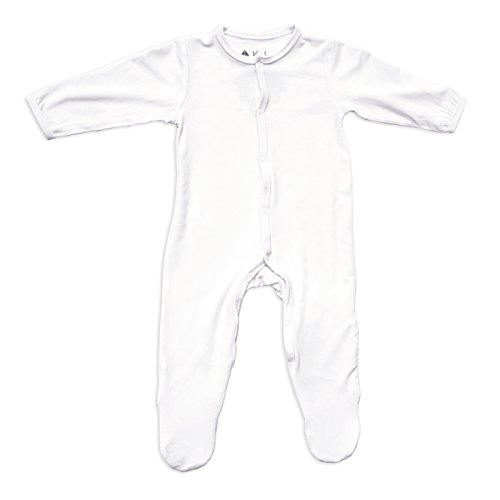 KYTE BABY Solid Footies (6-12 Months, Cloud)