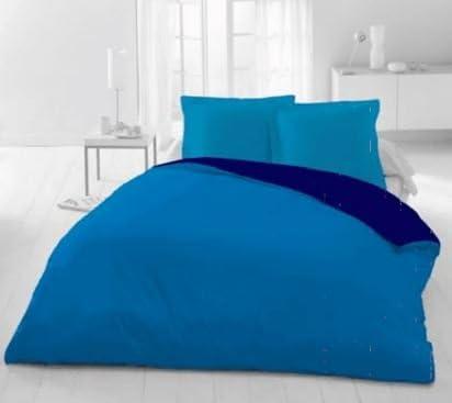 Beige, 135/_x/_200/_cm/ Energy Colors Textil Hogar Funda N/órdica Reversible para Edred/ón 2X Fundas de Almohada 100/% Poli/éster 85g//m/²