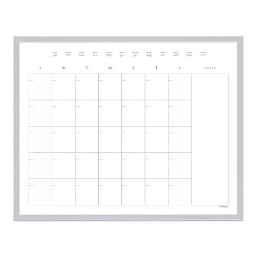 Quartet Dry Erase Calendar Board, Whiteboard/Whiteboard, Magnetic, 16