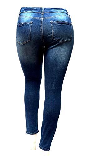 f72be0287d6 Wax Jeans Sneak Peek Womens Plus Size Ankle Skinny Basic Denim Jeans Ripped  Distressed Strech