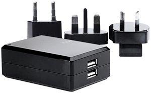 Jwin iAD110 iLuv Dual USB International Power Adapter
