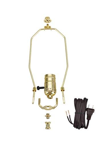 Aspen Creative 21011, Make-A-Lamp Kit in Polished Brass, 1 ()