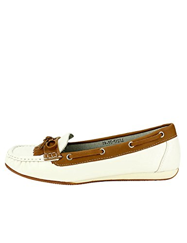 Chaussures Color OMODA Femme Cendriyon White Mocassins S8Fxpx