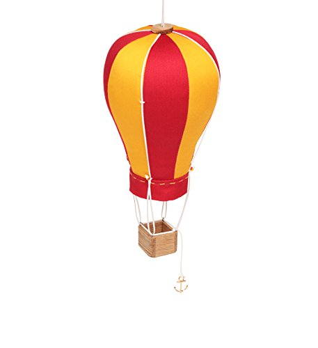 Hanging Textile Hot Air Balloon Mini Kid Room Decor Red Yellow Small