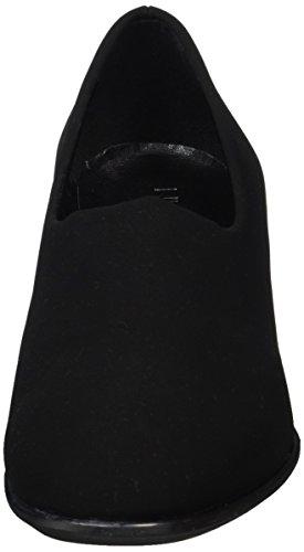 Nr Rapisardi Damen F900 Pompes Schwarz (noir Nubuck / Paillettes Dor)