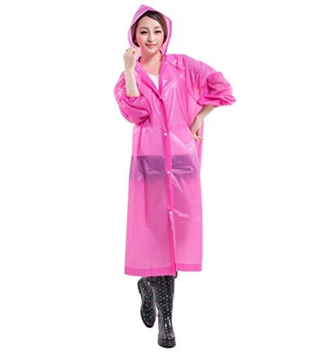 Rain Rosa Ambiente Poncho Estilo Portátil Jacket Mujeres Especial Bobolily Bicicleta Luz Impermeable La 7Yq5pf