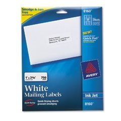 Avery 8160 Easy Peel White Address Labels 1