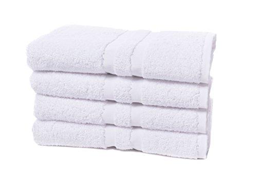ZOLLNER® 4er Set Handtücher 50x100 cm weiß, direkt vom Hotelwäschespezialisten, Serie