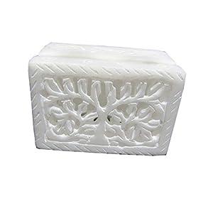 3″ Handmade Alabaster White Soapstone Trinket Jewelry Storage Box. Aroma Use.
