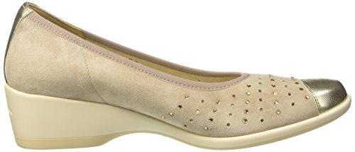 MELLUSO Decolletè - Zapatos de vestir de Piel para mujer dorado Size: Oro (Platino)