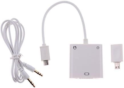 マイクロUSB→VGA アダプター オーディオ Vedio 変換ケーブル アンドロイドデバイスに対応