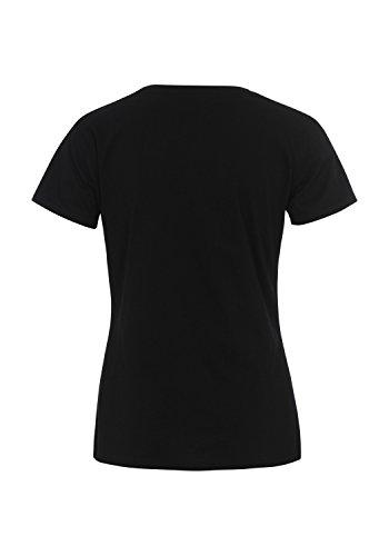 Lonsdale - Camiseta - Cuello redondo - Manga corta - para mujer negro