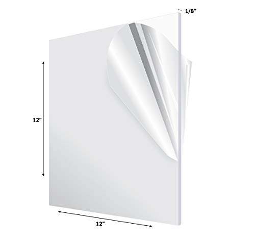 AdirOffice Acrylic Plexiglass Sheet - Transparent, Plastic Sheeting - Durable, Water Resistant & Weatherproof - Multipurpose & Ideal For Countless Uses 12