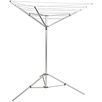 Great Household Essentials P1900 Portable Umbrella Drying Rack | Aluminum | 18  Lines With 64 Ft