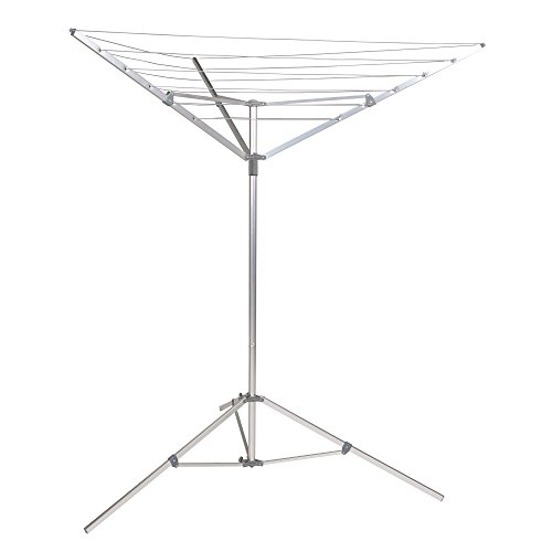 Household Essentials 17125-1 Portable Umbrella Drying Rack | Aluminum | 18-Lines with 64 ft. Clothesline ()