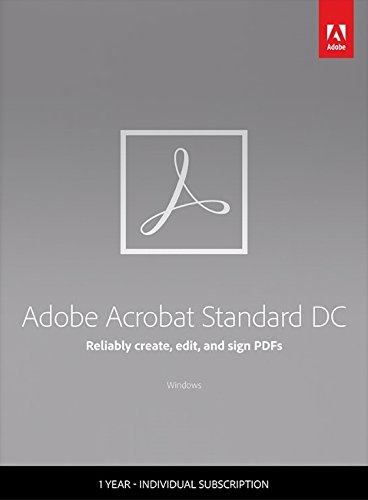 Adobe Acrobat Standard DC - 1 Year Subscription by Adobe