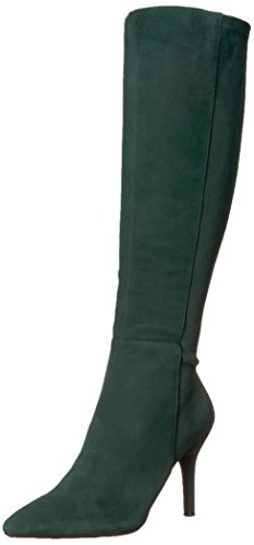 Nine West Women's Fallon, Dark Green Suede, 7 Medium US (Nine West Booties Suede)