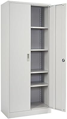 Registro de Boston T236, de metal armario oficina armario puertas, puertas 170 x 70 x 39 cm Regal: Amazon.es: Hogar