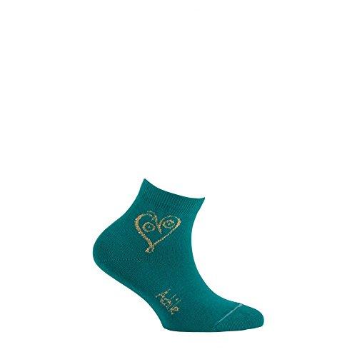 Achile Socks Pattern Short Love Green Cotton w7qZ8B