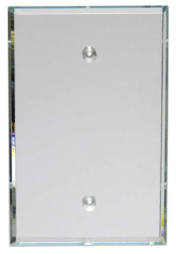 GlassAlike Blank Acrylic Mirror Switch Plate with Screw Holes
