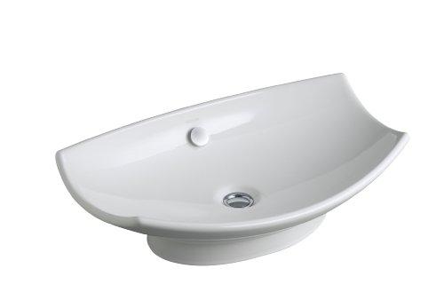 - KOHLER K-2530-0 Leaf Vessels Bathroom Sink, White