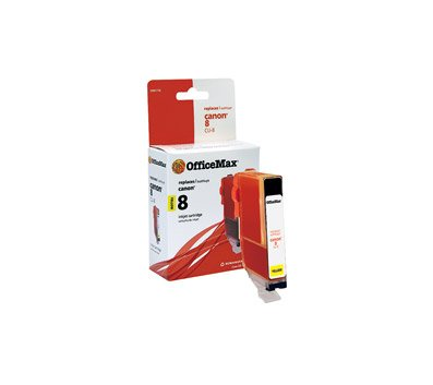 OfficeMax Remanufactured Yellow Ink Cartridge Replacement for Canon CLI-8Y (0623B002)