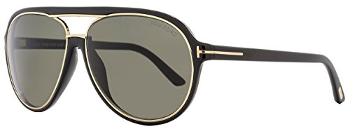 Tom Ford M-SG-2066 FT0379 Sergio 01A-Black Mens Sunglasses, 60-14-140 - Ford Aviators Tom