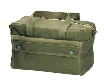 Rothco G.I. Type Mechanics Tool Bag With Brass Zipper, Olive Drab by Rothco