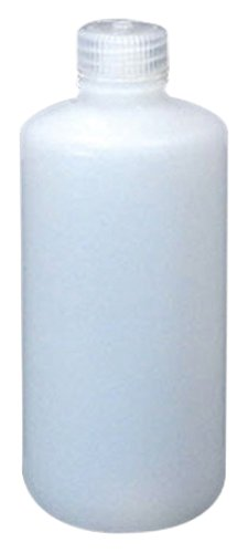 Nalgene 2097-0016 HDPE Fluorinated Narrow Mouth Bottle with PP Screw Closure, 500mL Capacity (Case of 48)