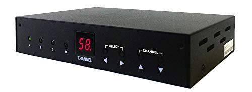 - 4-Input Composite Video Audio to RF Coax TV Modulator