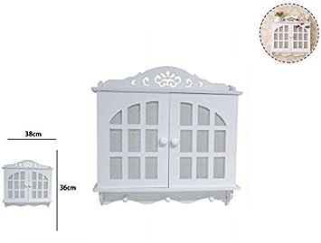 takestop® - Caja Porta Llaves de Madera Blanca RF_65397 con ...