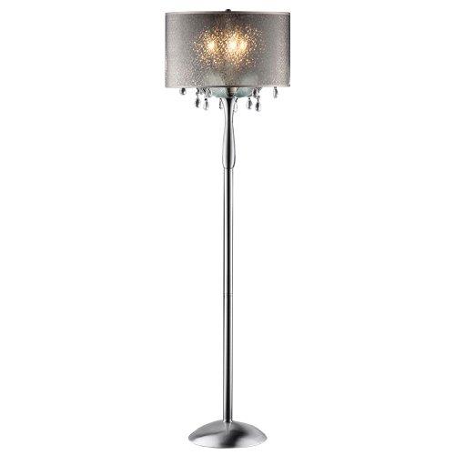 OK-5128f 61-Inch Petal Crystal Floor Lamp