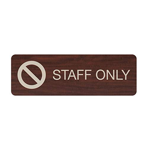 Staff Only Indoor Easy Adhesive Mount Door and Wall Sign for Restaraunts and Small Businesses 3
