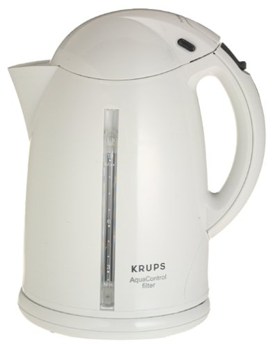 Krups 859-70 AquaControl 10-Cup Cordless Electric Kettle, Wh