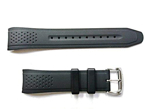 Citizen Watch Company of America Genuine Black Rubber Watch Strap for Men's Eco-Drive AR-Action Required Black Dial Watch Part #59-S52587