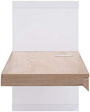 Furniture of America Nash Wood Floating TV Stand in White and Natural Tone